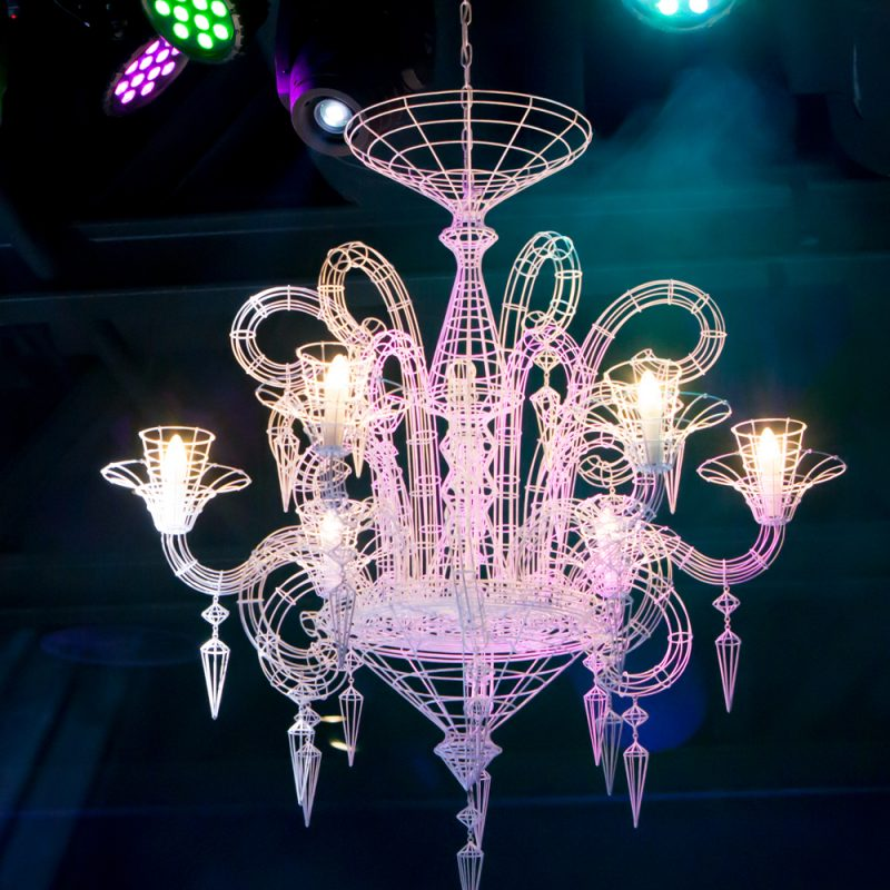 Grand French Wire chandelier